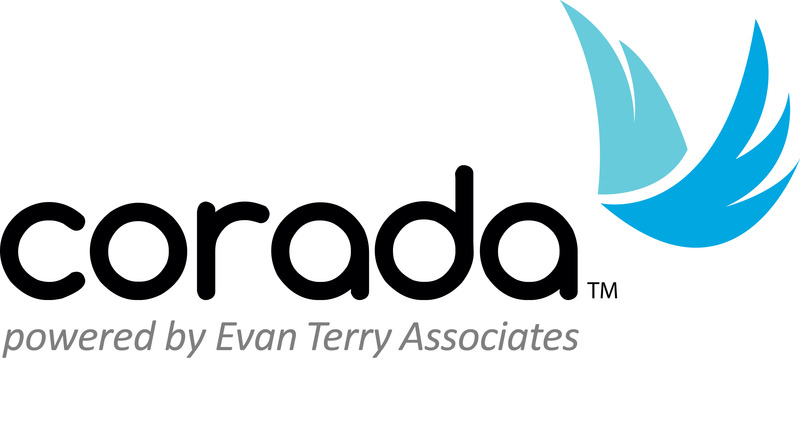 Corada, Powered by Evan Terry Associates logo